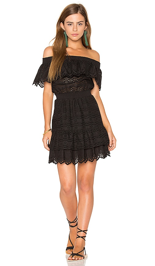 LoveShackFancy Elizabeth Dress in Black