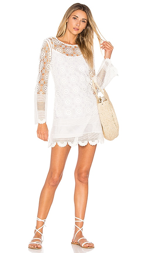 LoveShackFancy Sasha Dress in White