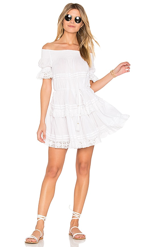 LoveShackFancy Agnes Dress in White