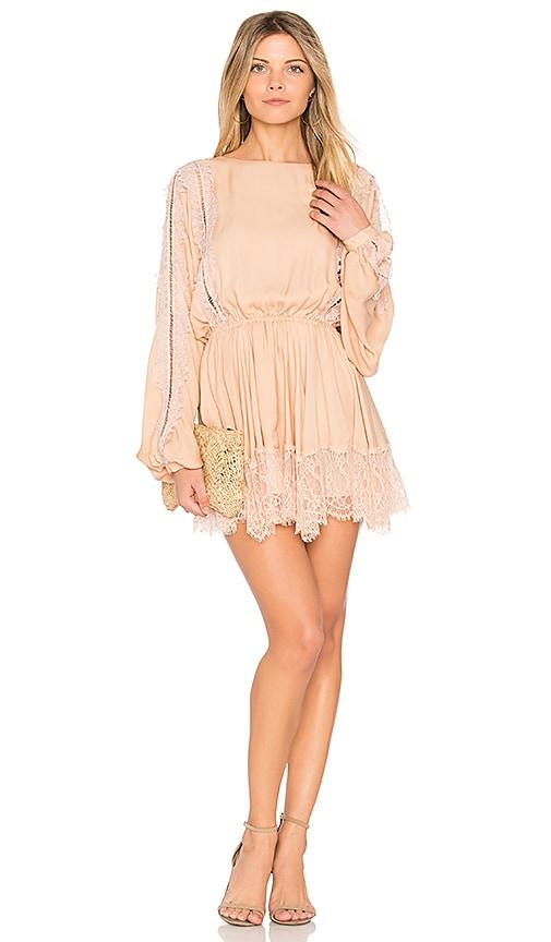 LoveShackFancy Noelle Dress in Peach