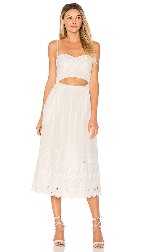LoveShackFancy Jenna Dress in White