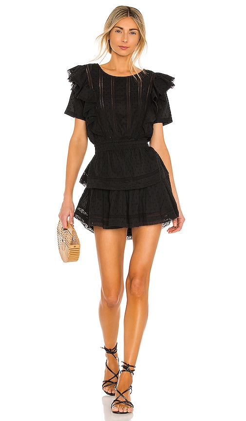 LoveShackFancy Natasha Dress in Black