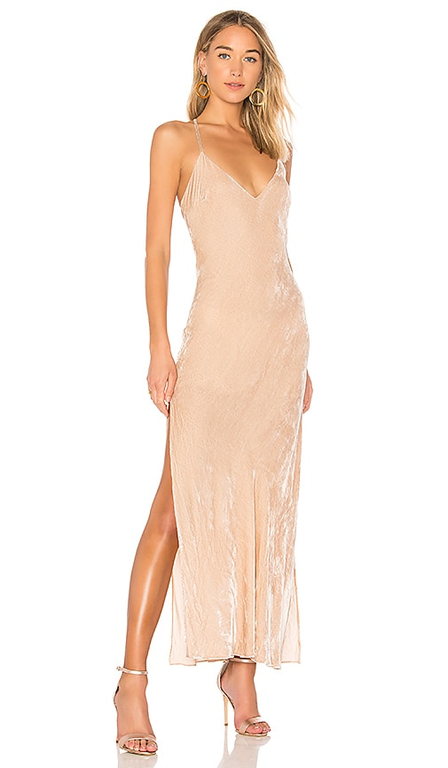 LoveShackFancy Kate Slip Dress in Beige