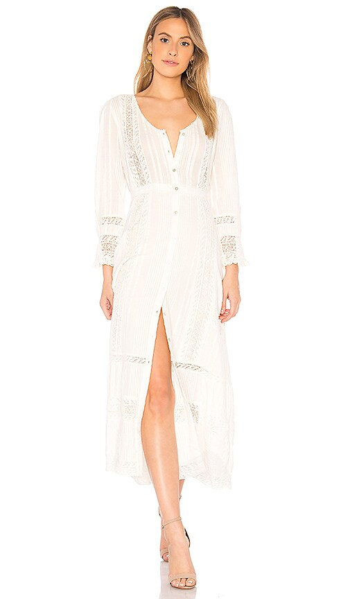 LoveShackFancy Desert Victorian Maxi Dress in White