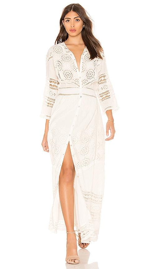LoveShackFancy Rosalie Dress in Ivory