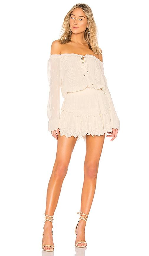 LoveShackFancy Popover Dress in Cream