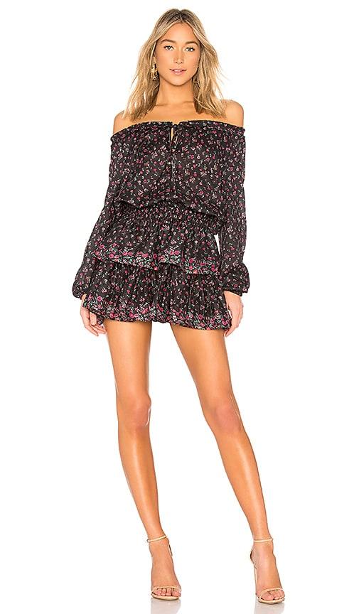 LoveShackFancy Popover Dress in Black