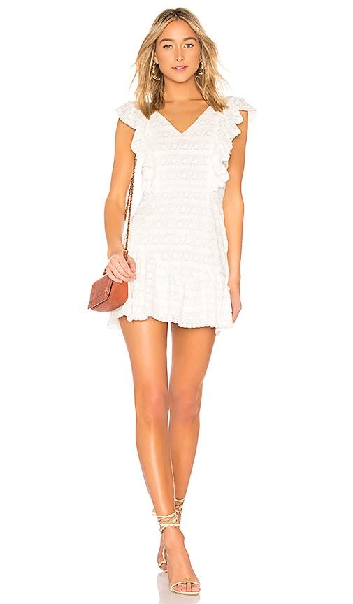 LoveShackFancy Alanis Dress in White
