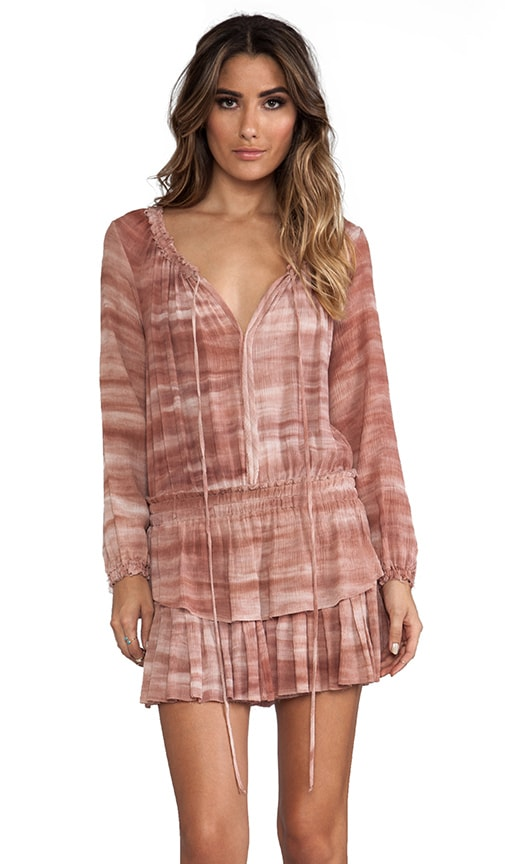 Popover Ruffle Mini Dress