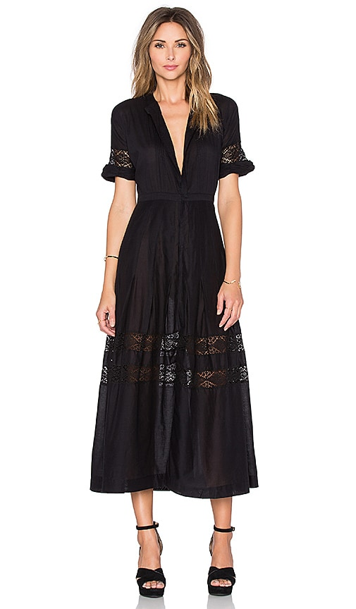 LoveShackFancy Eden Dress in Black