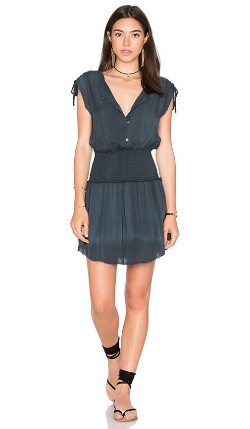 LoveShackFancy Mila Dress in Washed Black