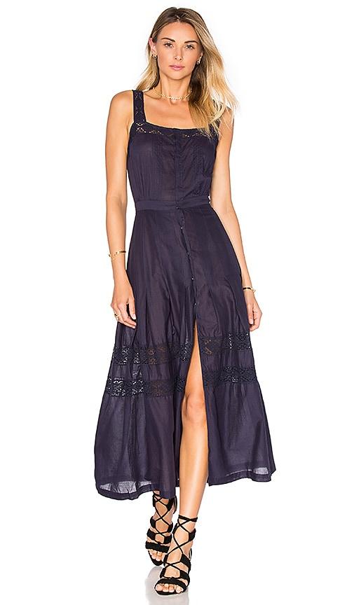 LoveShackFancy Eve Dress in Indigo
