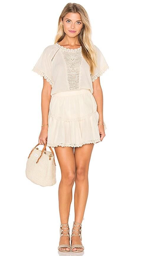 LoveShackFancy Carla Dress in Cream