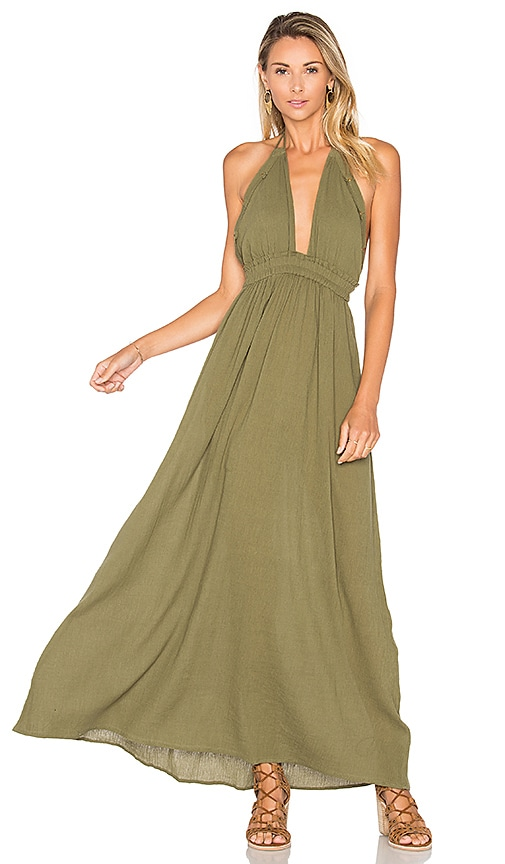LoveShackFancy String Love Maxi Dress in Green