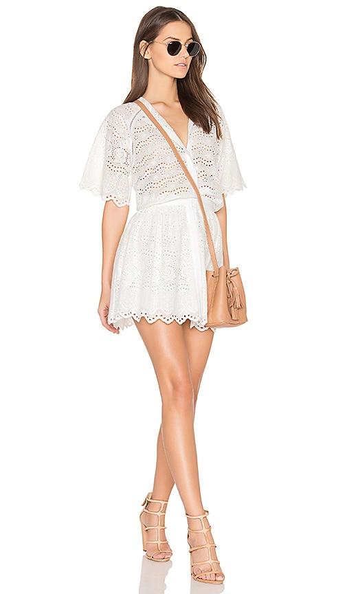 LoveShackFancy Charlie Dress in White
