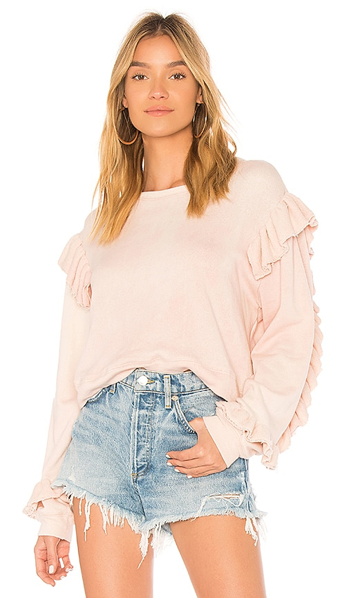 LoveShackFancy Ruffle Sweater in Pink