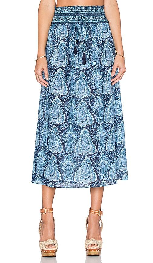 LoveShackFancy Ali Skirt in Blue