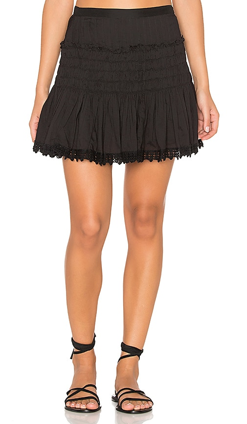 LoveShackFancy Camilla Skirt in Black
