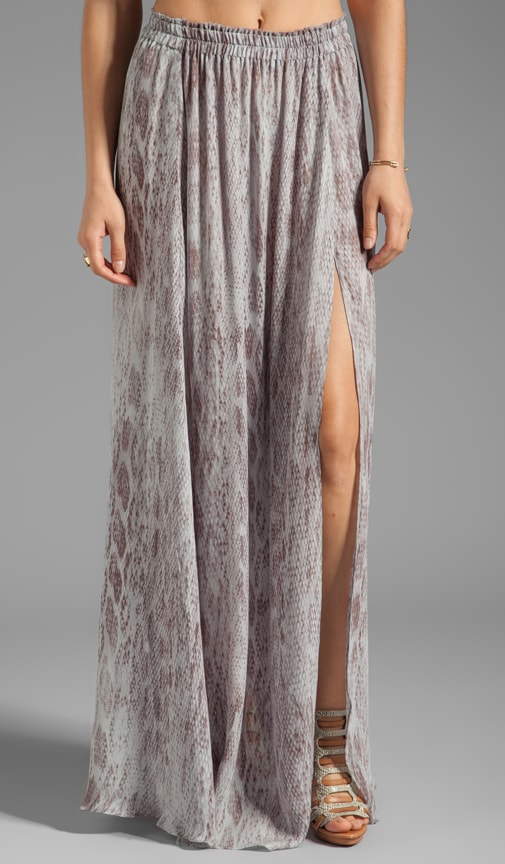 Love Shack Fancy Love Slit Maxi Skirt