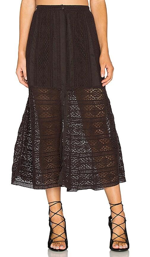LoveShackFancy Bali Skirt in Black