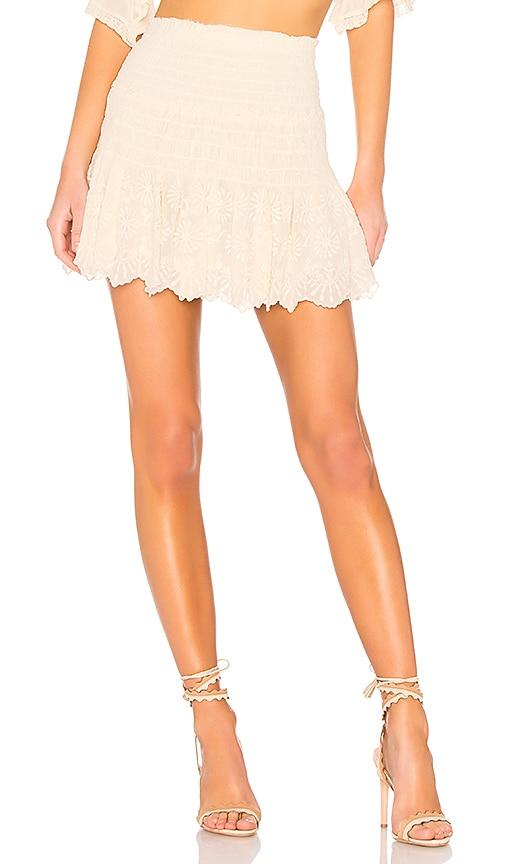 LoveShackFancy Milla Skirt in Cream