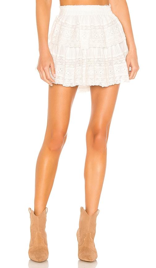 663d8960e LoveShackFancy Ruffle Mini Skirt in Antique White | REVOLVE