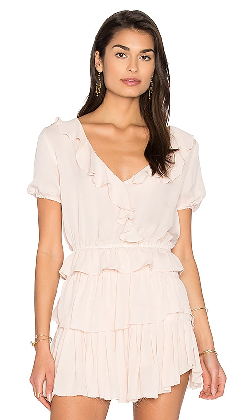 LoveShackFancy Zoe Ruffle Top in Blush