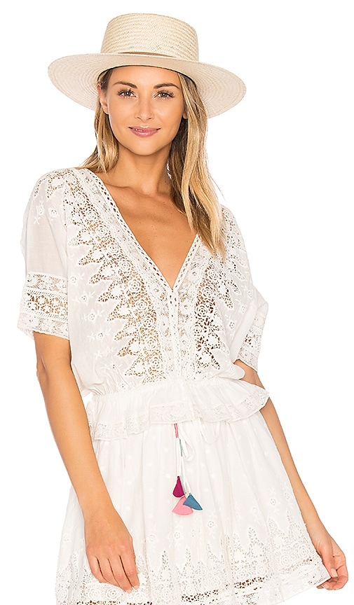 LoveShackFancy Jane Top in White