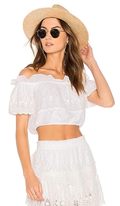 142682509f7a40 LoveShackFancy Cecilia Crop Top in White