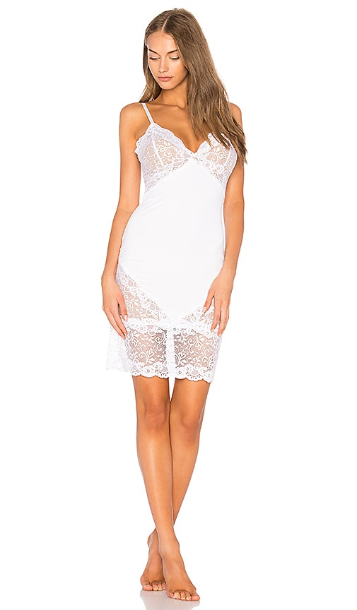 Les Coquines Gemma Slip Dress in White