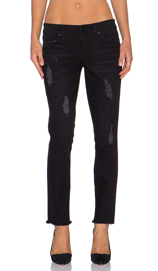 Level 99 Janice Mid Rise Ultra Skinny in Licorice