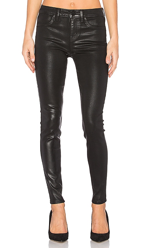 Level 99 Janice Ultra Skinny in Black Coated