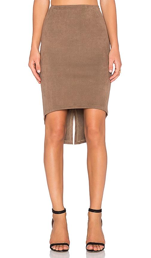 Level 99 Elle Tuxedo Skirt in Tawny