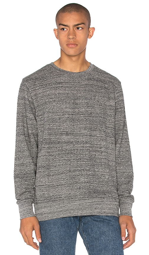 LEVI'S: Made & Crafted Crew Sweatshirt in Gray