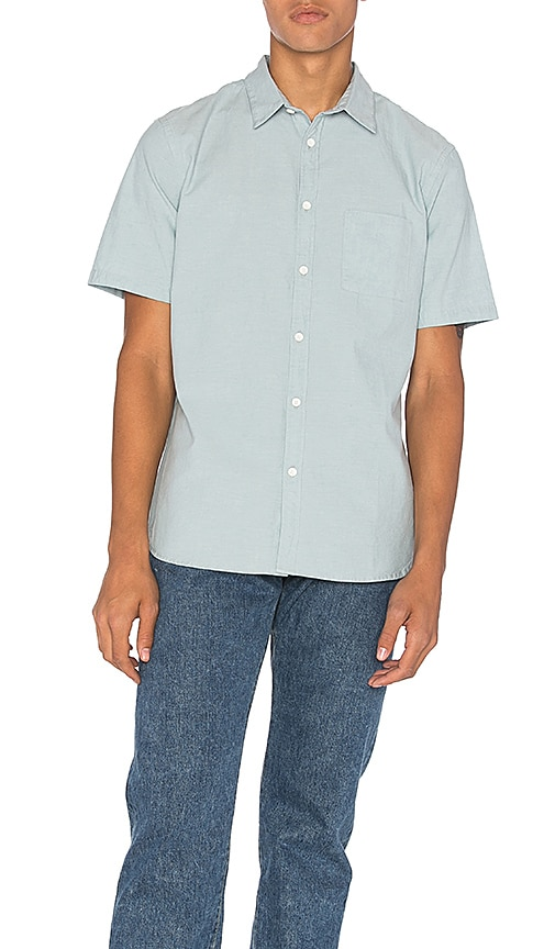 LEVI'S: Made & Crafted Pocket Shirt in Blue