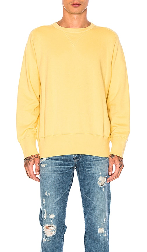 LEVI'S Vintage Clothing Bay Meadows Sweatshirt in Yellow
