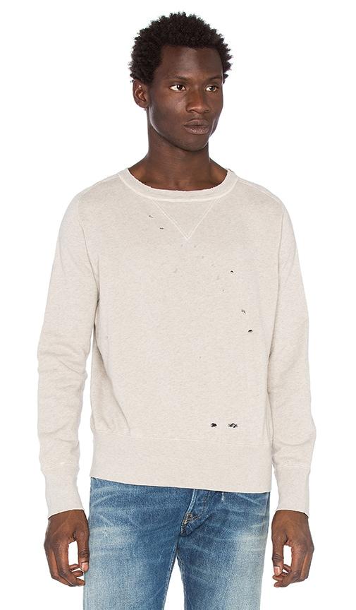 LEVI'S Vintage Clothing Bay Meadows Sweatshirt in Oatmeal Mele