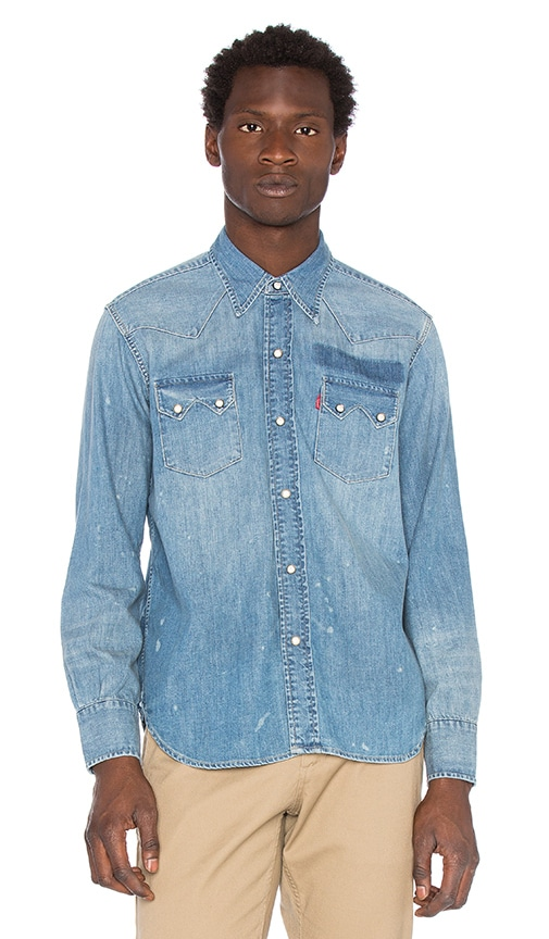 ee0734456a LEVI S Vintage Clothing 1955 Sawtooth in Bullwhacker