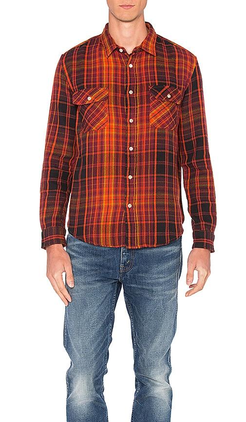 LEVI'S Vintage Clothing Shorthorn Shirt in Orange
