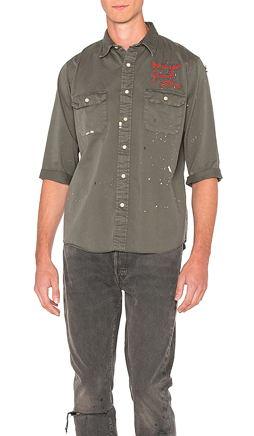 LEVI'S Vintage Clothing Tab Twill Customized Shirt in Sage