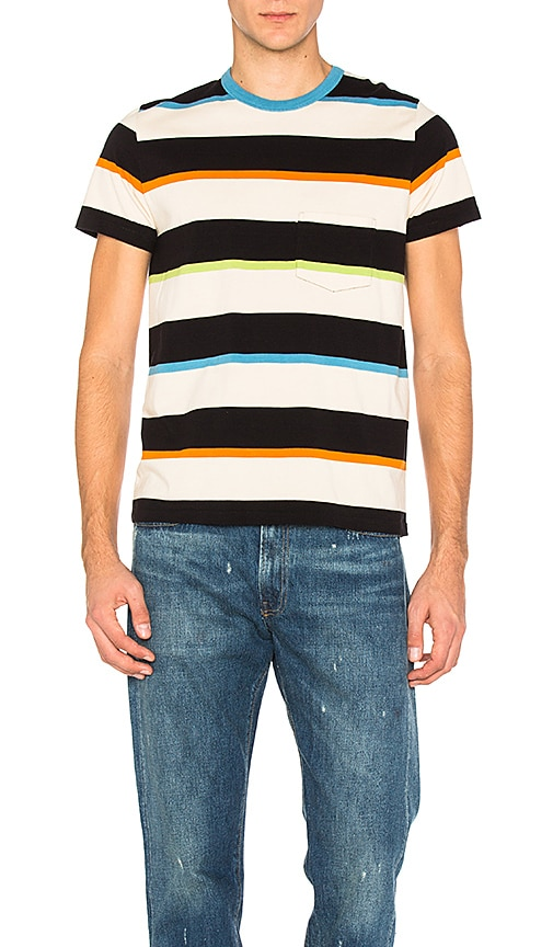 LEVI'S Vintage Clothing 1960's Casual Stripe Tee in Black