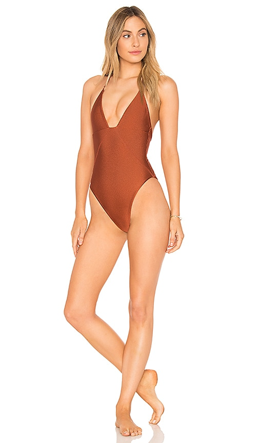 aa030dd73d5 lovewave The Eva One Piece in Rust | REVOLVE