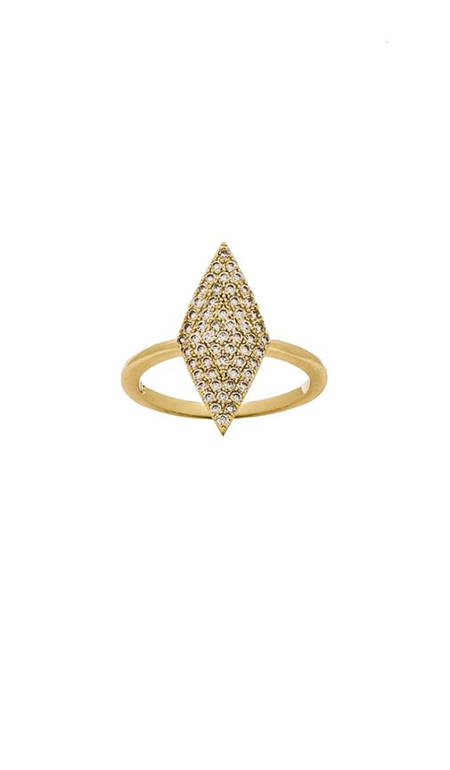 Pave Diamond Shape Ring