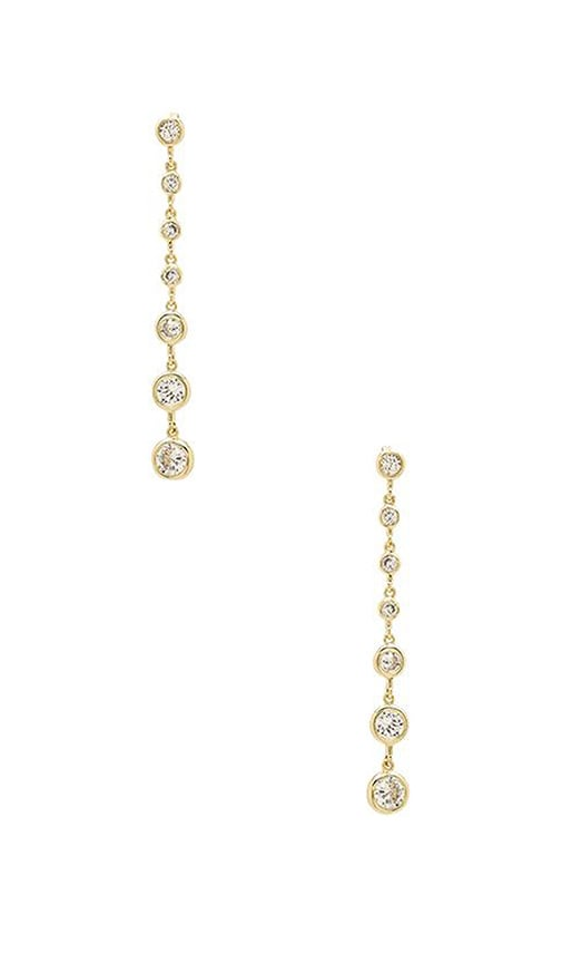 Lisa Freede Linear Drop Earrings in Gold