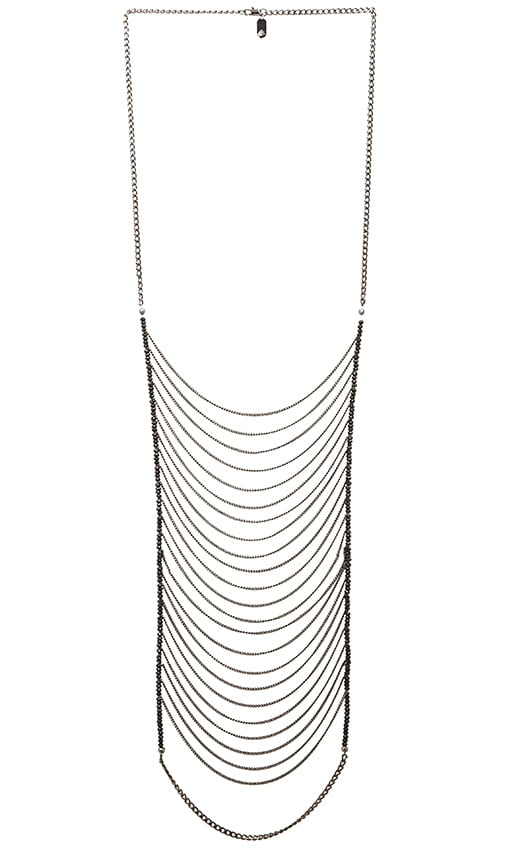 Lisa Freede Malibu Necklace in Black Diamondite & Gunmetal