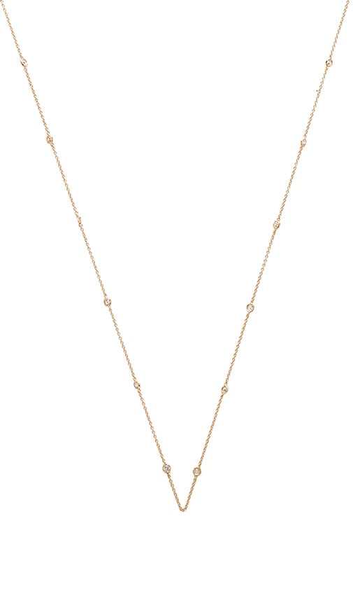 Lisa Freede Diamonds by the Yard Necklace in Metallic Gold 5LyX001