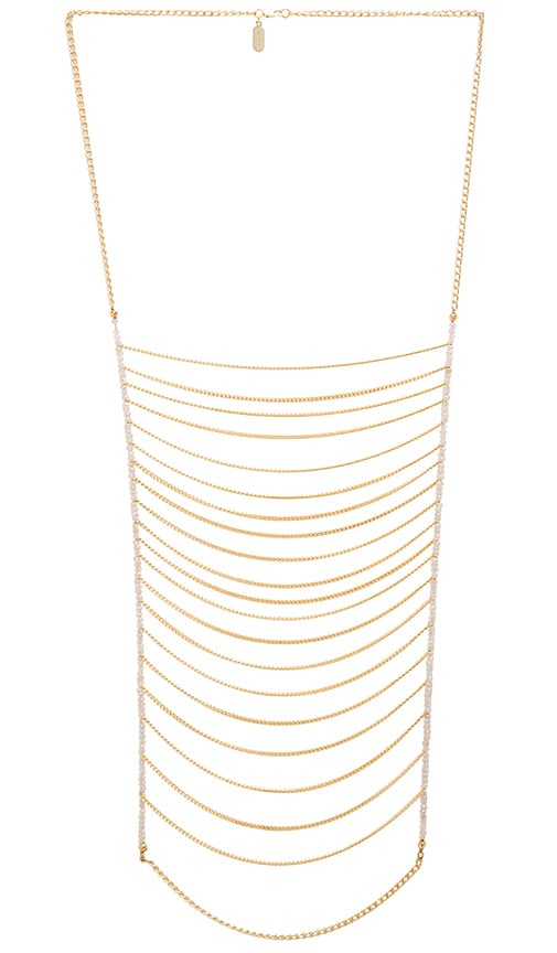 Lisa Freede Malibu Necklace in Metallic Gold