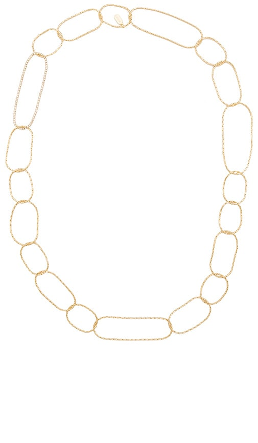 Lisa Freede Chevron Link Necklace in Metallic Gold