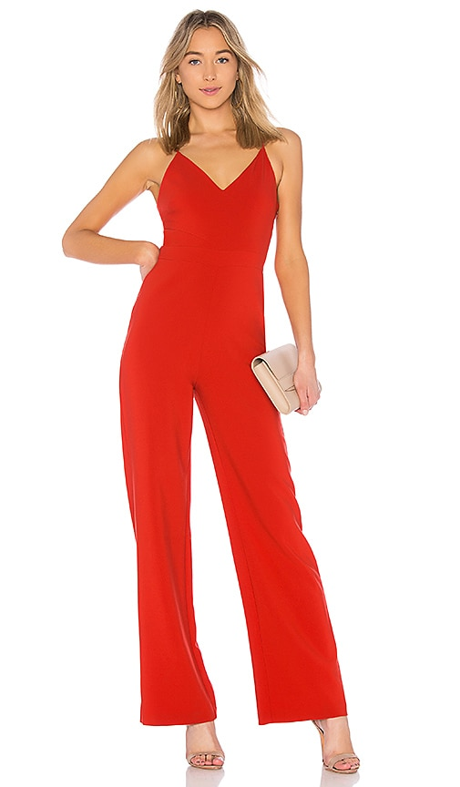 LIKELY Brooklyn Jumpsuit in Red