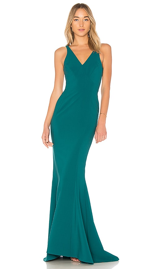 LIKELY Elisas Gown in Turquoise